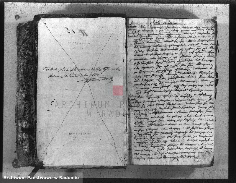 """Obraz z jednostki """"Duplikat parafij Cerekiew z r. 1810 - 1818"""""""