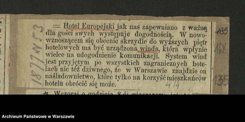 "Obraz 13 z kolekcji ""Hotel Europejski"""