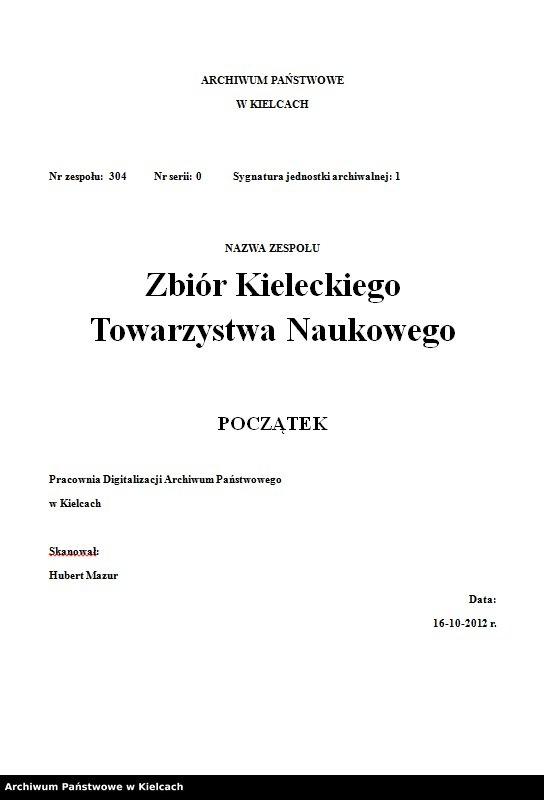 """Obraz z zespołu """"Zbiór Kieleckiego Towarzystwa Naukowego"""""""