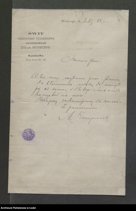 """Obraz 11 z kolekcji """"Znane osoby w dokumentach"""""""