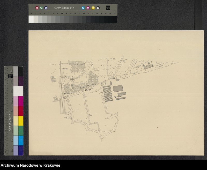 """Obraz 2 z jednostki """"[Kraków (część) Plan sytuacyjno-warstwicowy sprzed 1908 (kolej obwod.) po 1903 r.]"""""""