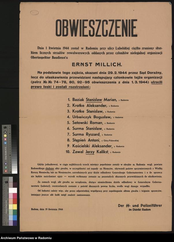 """Obraz 6 z kolekcji """"Represje niemieckie w Dystrykcie Radomskim."""""""