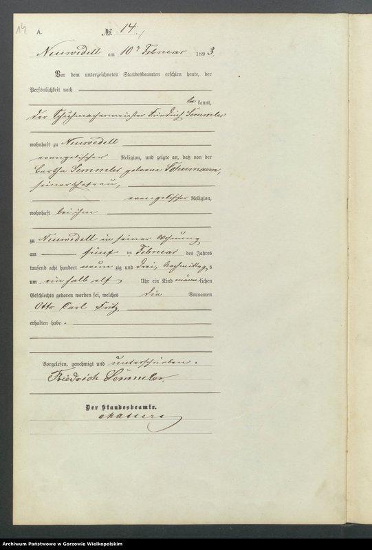 "Obraz 16 z jednostki ""Geburts Register"""