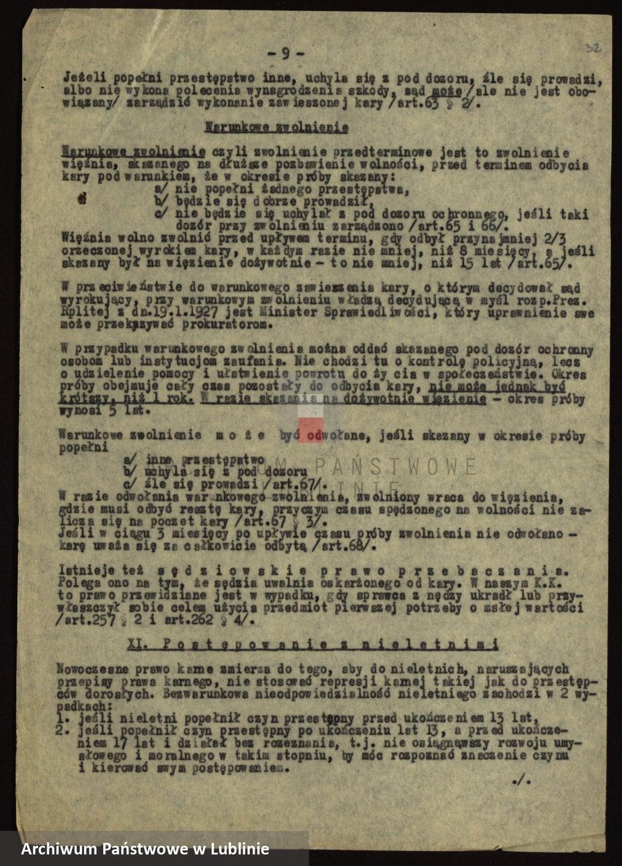 Skan z jednostki: [Instrukcje dotyczące organizacji i zadań władz administracyjnych i sił porządkowych oraz przepisy prawne normujące ich działalność]