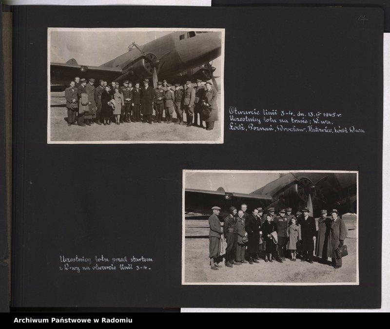 """Obraz 8 z jednostki """"[Album fotograficzny dokumentujący reaktywowanie krajowych połączeń lotniczych przez Polskie Linie Lotnicze """"Lot""""]"""""""