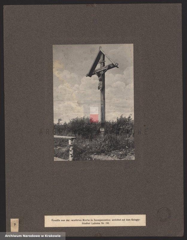 """Obraz z jednostki """"Fotografie cmentarzy wojennych na terenie Galicji Zachodniej, na Morawach i na Śląsku."""""""