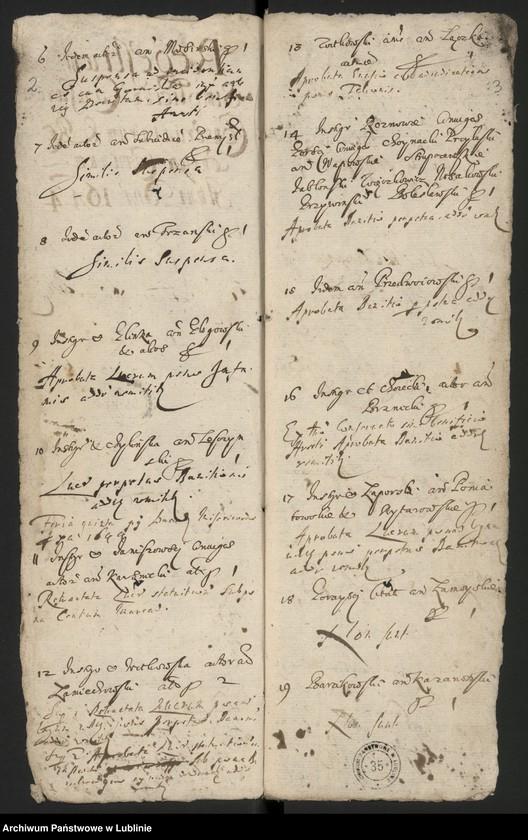"""Obraz z jednostki """"Regestrum Simplicium Causarum Conseruatarum & Recentium Criminum Anni Dni 1644"""""""