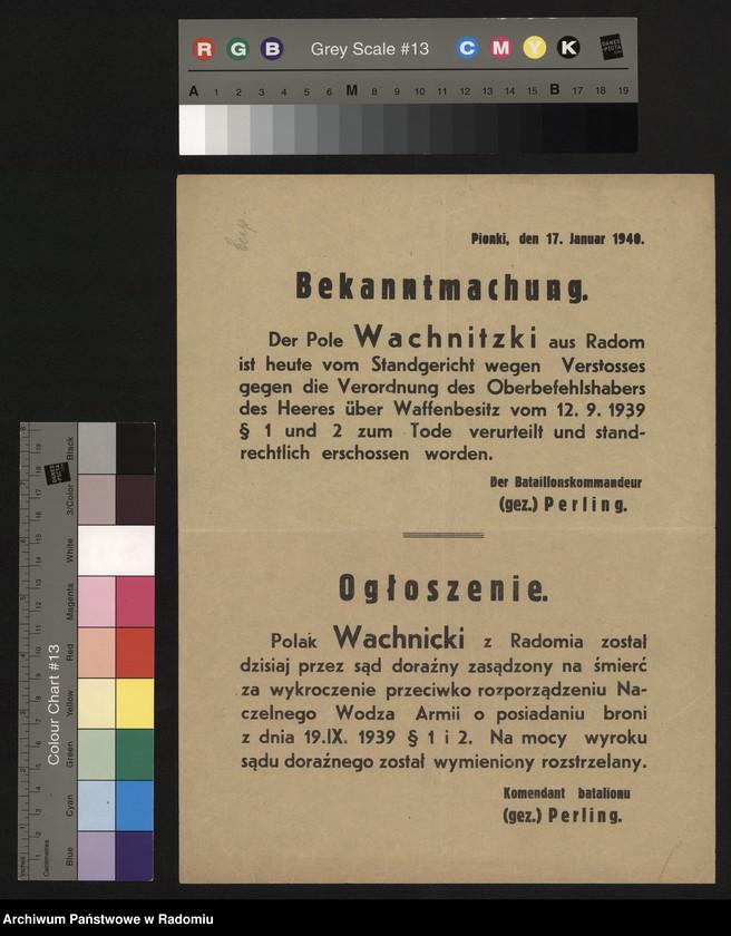 """Obraz 2 z kolekcji """"Represje niemieckie w Dystrykcie Radomskim."""""""