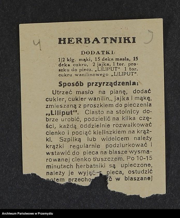 """Obraz 1 z kolekcji """"Przepisy kulinarne z kalendarza z 1935 roku"""""""