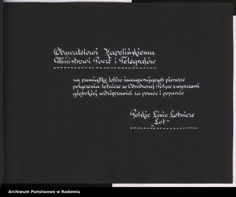 """Obraz 2 z jednostki """"[Album fotograficzny dokumentujący reaktywowanie krajowych połączeń lotniczych przez Polskie Linie Lotnicze """"Lot""""]"""""""