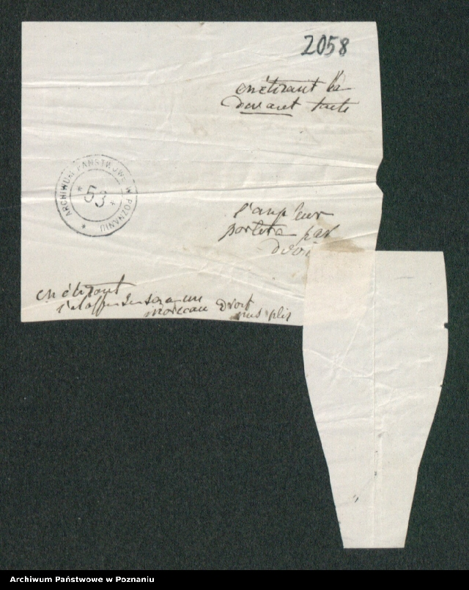 """Obraz 7 z kolekcji """"Szkice krawieckie w korespondencji Józefy Radolińskiej (1809-1880) z jej synem Hugonem (1841-1917) i synową Lucy Catherine Wakefield"""""""