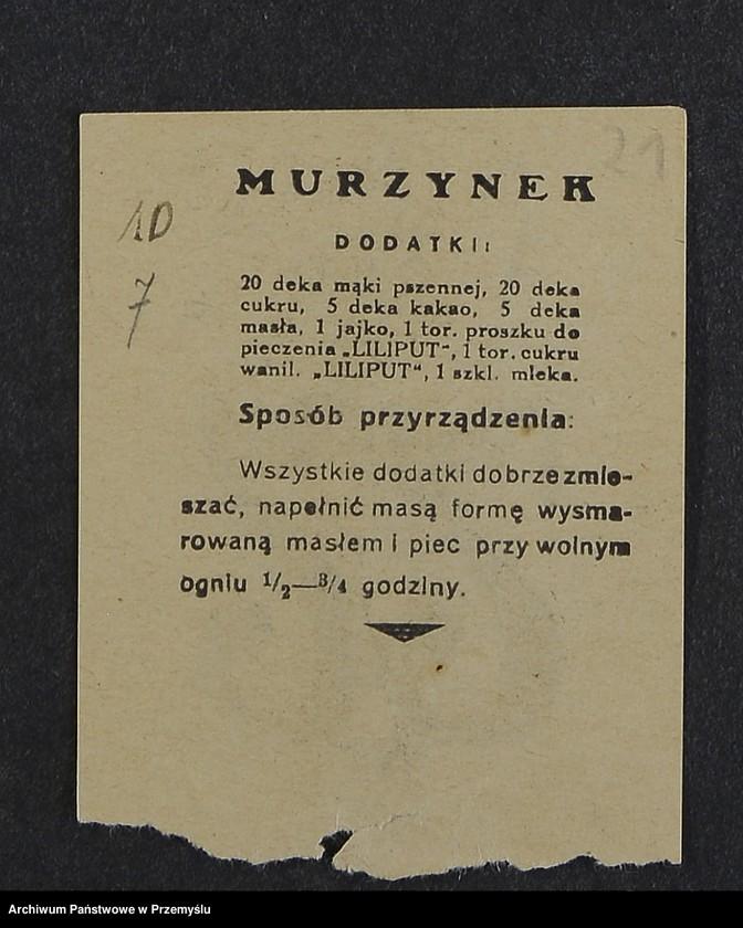 """Obraz 7 z kolekcji """"Przepisy kulinarne z kalendarza z 1935 roku"""""""