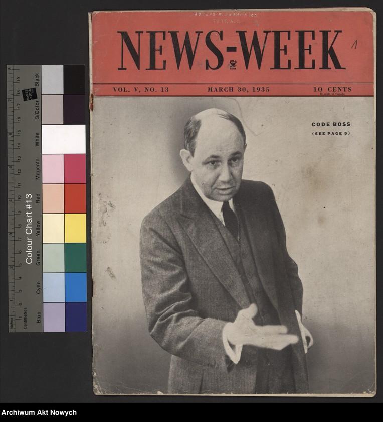 """Obraz z jednostki """"News - Week. Artykuł o roli J.Piłsudskiego i nowej konstytucji."""""""