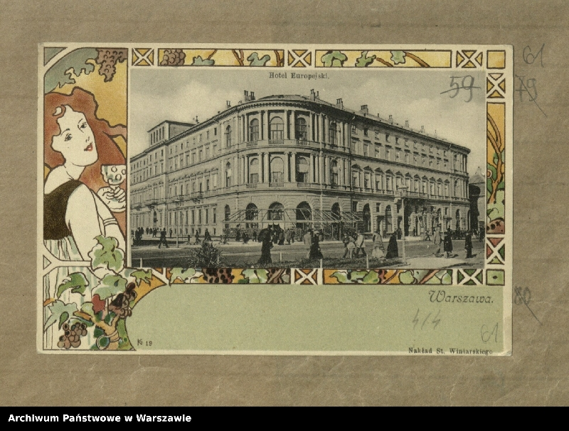 "Obraz 1 z kolekcji ""Hotel Europejski"""