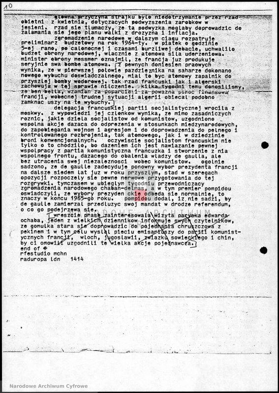 """Obraz 11 z jednostki """"Skrypty audycji z dnia 09.11.1963"""""""