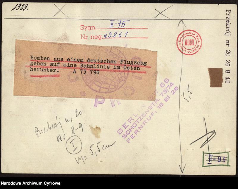 """Obraz 3 z jednostki """"Bombardowanie linii kolejowej przez niemieckie samoloty"""""""