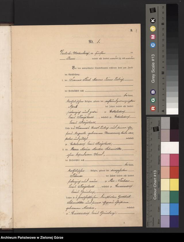 """image.from.unit """"Heirats-Haupt-Register Standes-Amt Deutsch Wartenberg 1899"""""""