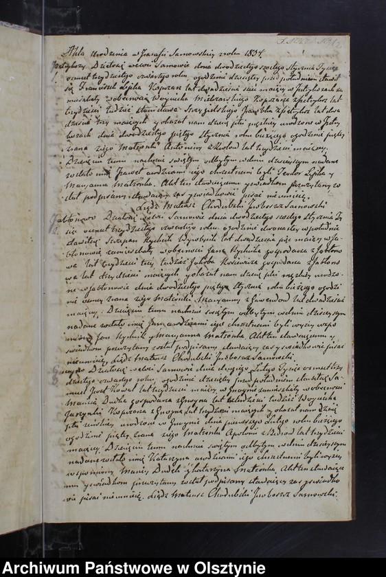 """image.from.unit """"Akta Urodzonych Zaslubionych Zmarłych w parafii Sarnowskiey w roku 1834"""""""