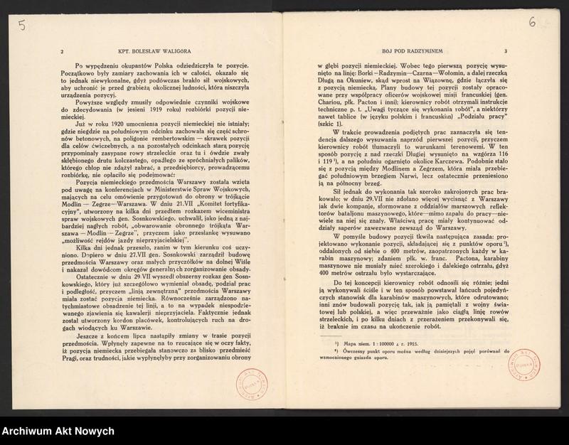 """Obraz 7 z jednostki """"Materiały dotyczące wojny 1920 roku. Odpisy akt, plany, wycinki prasowe. """""""