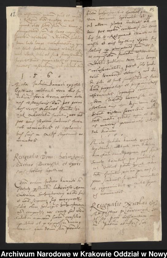 """Obraz 1 z kolekcji """"Fragment księgi wójtowsko - ławniczej miasta Starego Sącza z lat 1480-1563"""""""