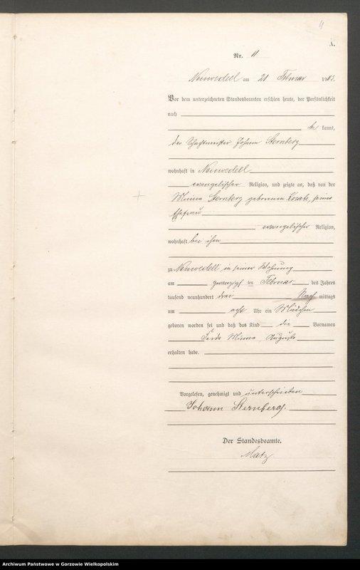 "Obraz 13 z jednostki ""Geburts Register"""