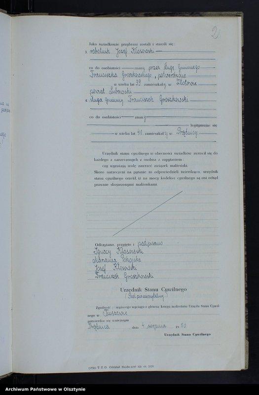 """image.from.unit """"Księga małżeństw Nr 1 - 8,1 - 5,1 - 9 i 1 - 11 /przepisana w języku polskim z oryginału niemieckiego w dniach 4.08.-8.08.1950/"""""""