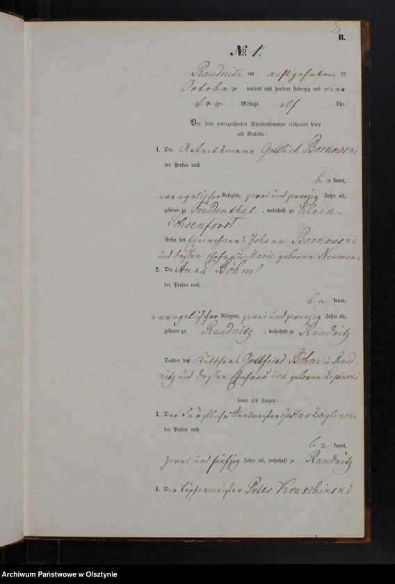 """Obraz z jednostki """"Heiraths-Neben-Register Nr 1 - 7"""""""
