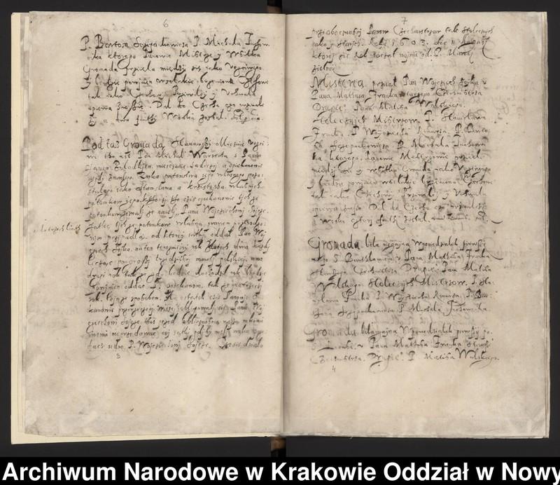 """Obraz 14 z kolekcji """"Fragment księgi cechu szewskiego w Starym Sączu z lat 1603-1709"""""""