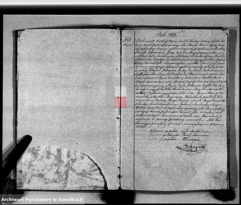 """image.from.unit """"Duplikat Zaślubionych, Urodzonych i Zmarłych Okręgu Wiejsieje Wyznania Moyżeszowego za rok 1852"""""""