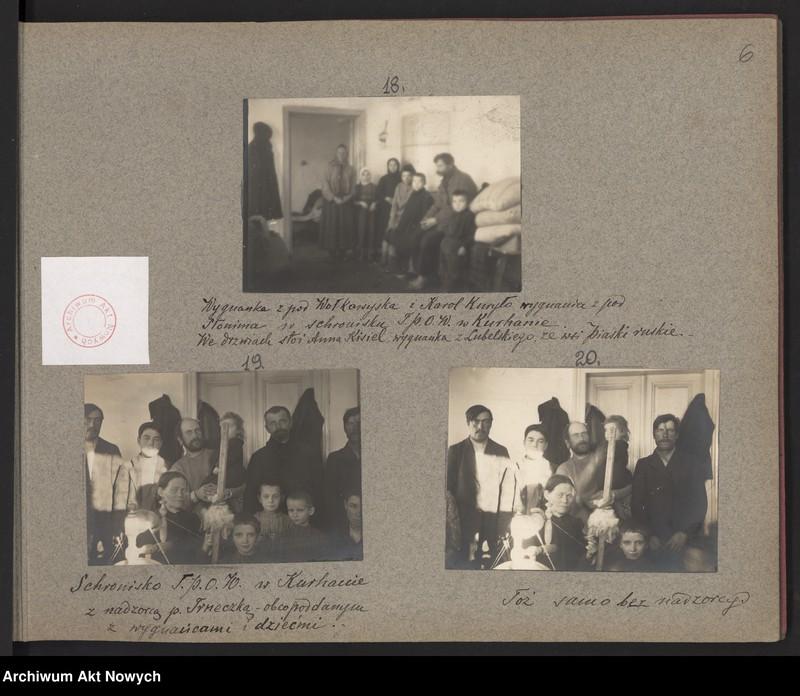 """Obraz 1 z kolekcji """"Album """"Szlakami wygnańców"""" 1915-1916"""""""