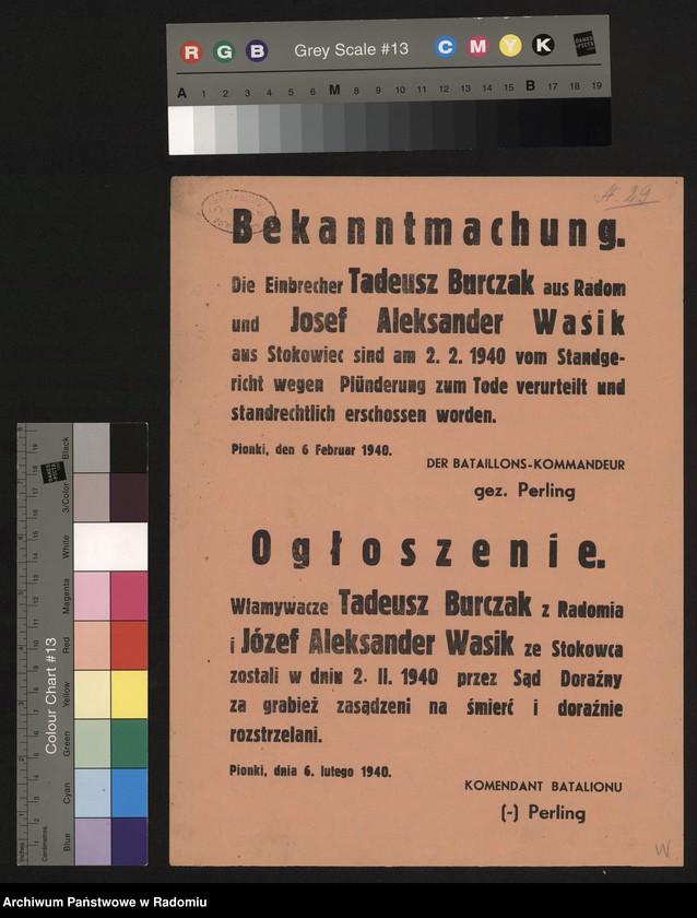 """Obraz 8 z kolekcji """"Represje niemieckie w Dystrykcie Radomskim."""""""