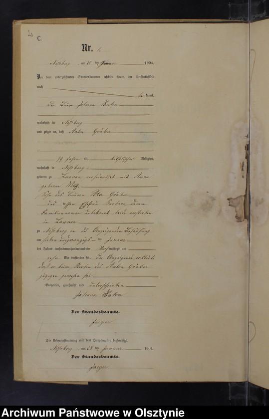 "Obraz z jednostki ""Sterbe-Neben-Register Nr 1 - 11"""