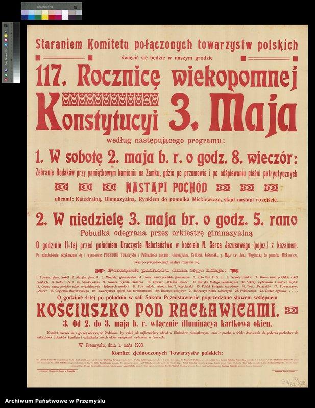 """Obraz 5 z kolekcji """"Uchwalenie Konstytucji 3 Maja - obchody rocznicowe w Przemyślu"""""""