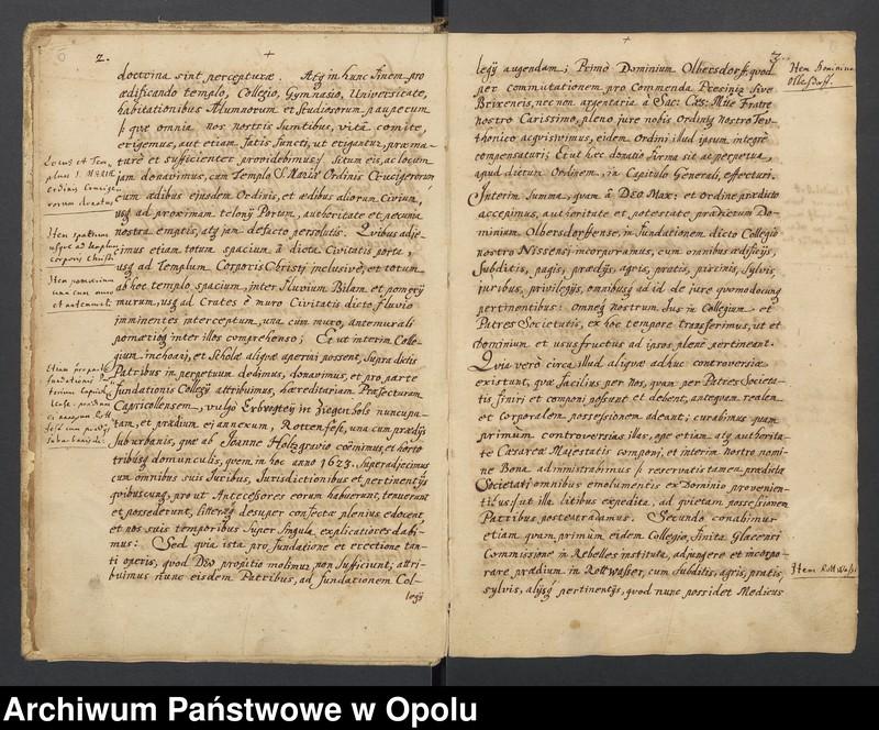 """Obraz 9 z kolekcji """"Księga dokumentów fundacyjnych Kolegium Jezuitów w Nysie"""""""