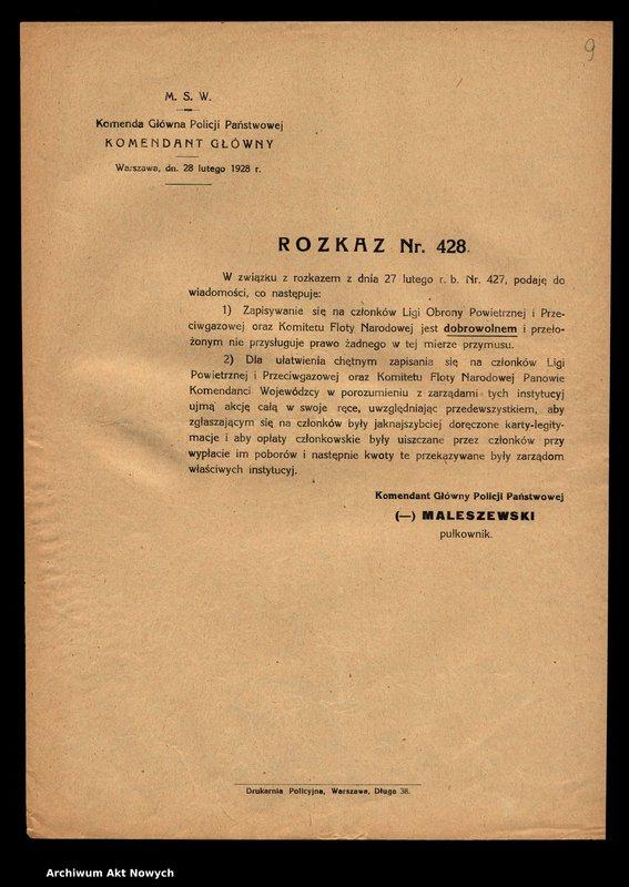 """Obraz 12 z jednostki """"[Rozkazy Komendanta Głównego Policji Państwowej.]"""""""