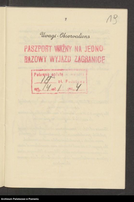 """Obraz 18 z kolekcji """"Paszporty"""""""