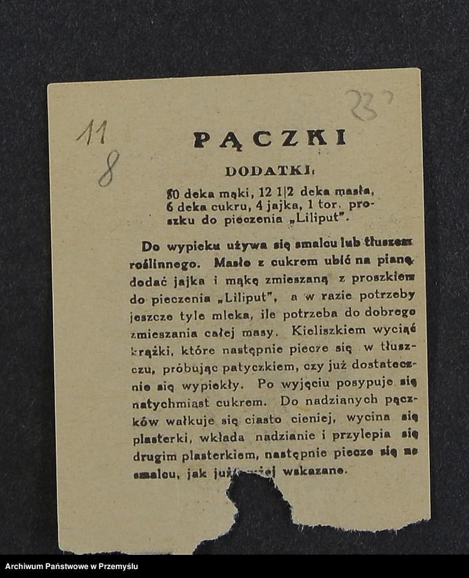 """Obraz 8 z kolekcji """"Przepisy kulinarne z kalendarza z 1935 roku"""""""
