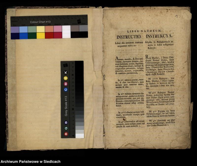 """Obraz z jednostki """"Akta urodzonych od roku 1797 do roku 1825."""""""