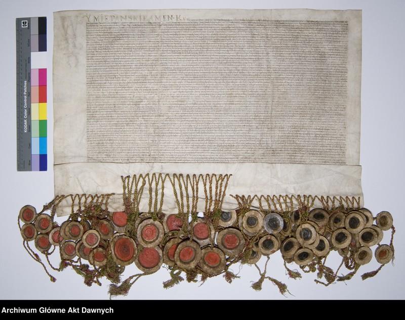 """Obraz 3 z jednostki """"Panowie rady i posłowie ziemscy Wielkiego Księstwa Litewskiego odnawiają unię z Koroną Polską. Unia lubelska."""""""