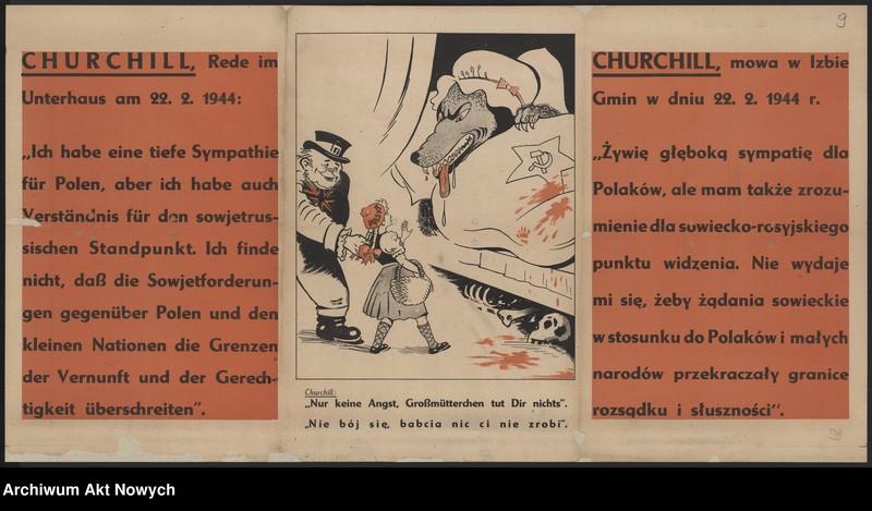 """Obraz 13 z kolekcji """"Propaganda niemiecka z okresu II wojny światowej."""""""