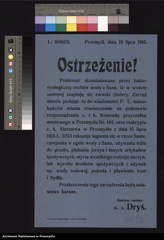 """Obraz 5 z kolekcji """"Epidemie w Przemyślu"""""""