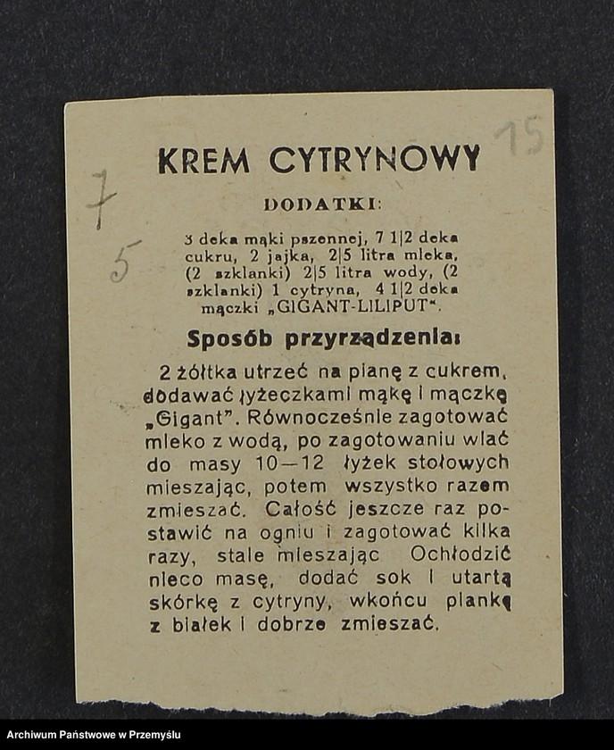 """Obraz 4 z kolekcji """"Przepisy kulinarne z kalendarza z 1935 roku"""""""