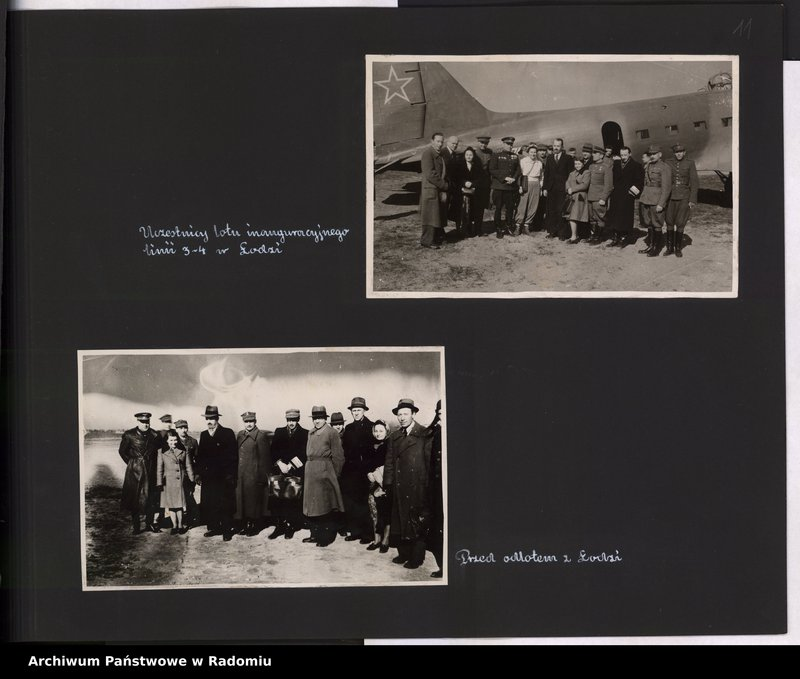 """Obraz 12 z jednostki """"[Album fotograficzny dokumentujący reaktywowanie krajowych połączeń lotniczych przez Polskie Linie Lotnicze """"Lot""""]"""""""