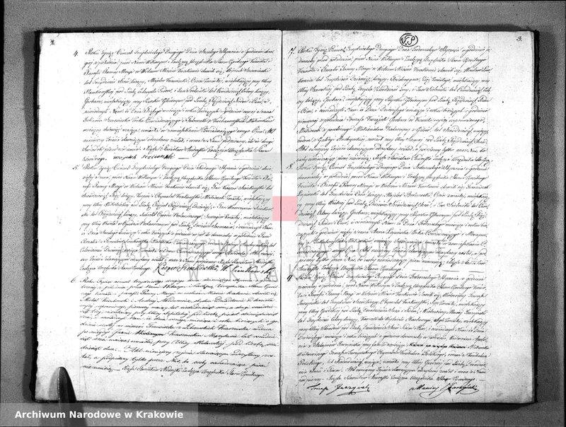 """Obraz z jednostki """"Akta Zejścia Stanu Cywilnego Parafii Panny Maryi z Roku 1832"""""""