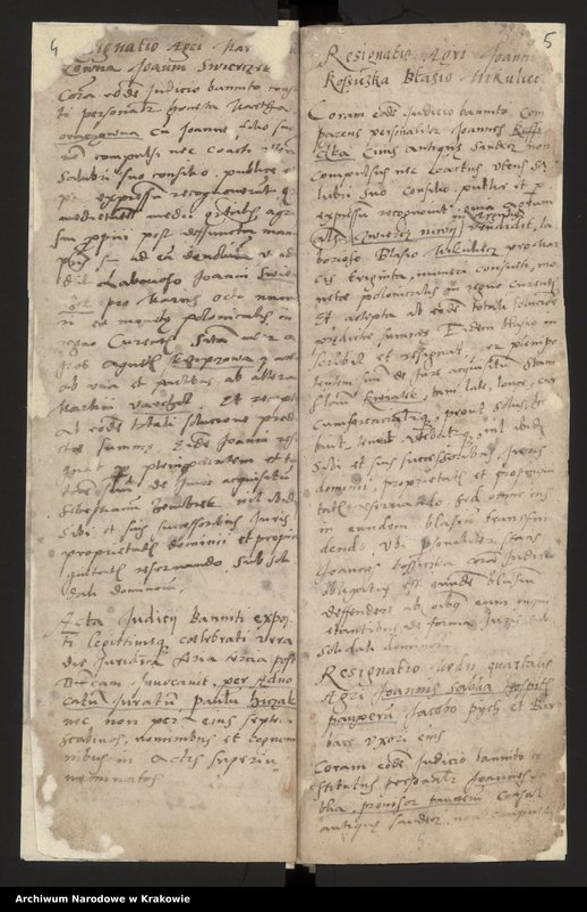 """Obraz 11 z kolekcji """"Fragment księgi wójtowsko - ławniczej miasta Starego Sącza z lat 1480-1563"""""""