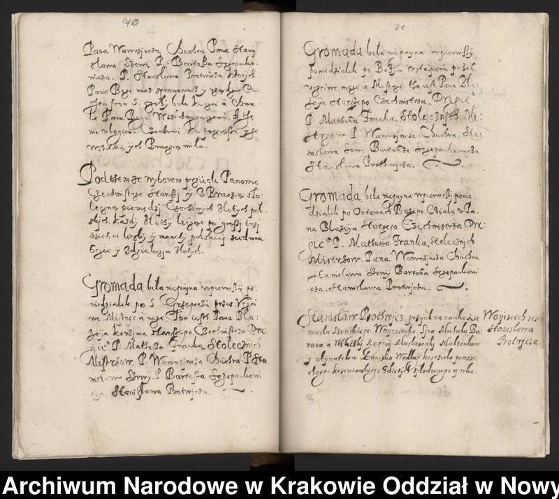 """Obraz 8 z kolekcji """"Fragment księgi cechu szewskiego w Starym Sączu z lat 1603-1709"""""""
