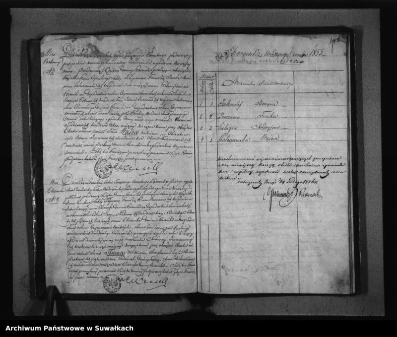 """image.from.unit """"Duplikat Akt Stanu Cywilnego Urodzonych, Zaślubionych i Zmarłych Sekty Filiponów z Gminy Berznickiej z roku 1855"""""""