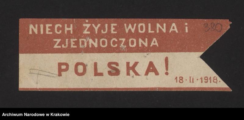 """Obraz 15 z kolekcji """"Znaczki i cegiełki kwestacyjne w zasobie Archiwum Narodowego w Krakowie"""""""