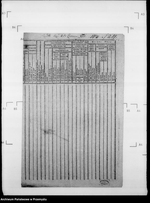 """Obraz 8 z jednostki """"Sumariusze miejscowe [spisy ludności i spisy koni dla celów wojskowych]"""""""