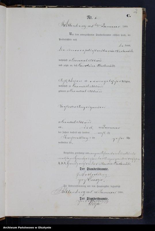 "Obraz z jednostki ""Sterbe-Neben-Register Nr 1 - 148"""